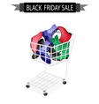 Women Shoes in Black Friday Shopping Cart vector image vector image