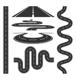 Roads and highways icons set vector image