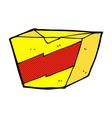 comic cartoon noodle box vector image
