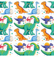 a dinosaur seamless pattern vector image vector image