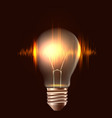 a realistic bulb with pulse element vector image vector image