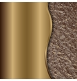 abstract bronze background with curve and foil vector image vector image