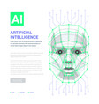 ai artificial intelligence concept human face vector image vector image