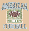 American football rule vector | Price: 1 Credit (USD $1)