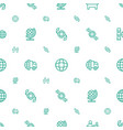 around icons pattern seamless white background vector image vector image