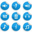 Audio stickers vector image vector image