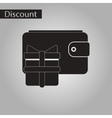 black and white style icon purse gift vector image vector image