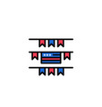 buntings party decoration american business logo vector image