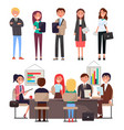 business meeting collection vector image vector image