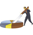 Business resources allocation vector image