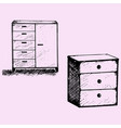 cabinet wood furniture vector image vector image