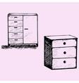 cabinet wood furniture vector image