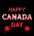 canada day red maple leaves and text vector image vector image
