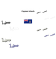 Cayman Islands outline map set vector image vector image