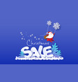 christmas advertising design card with santa claus vector image