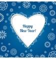Christmas blue card with snowflakes vector image vector image