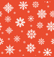 christmas seamless pattern white snowflakes vector image