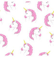 cute unicorn pattern vector image