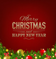 Dark Red Luxury Christmas Background vector image vector image