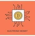 Electronic Money vector image vector image