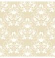 Elegant damask beige seamless background vector image vector image