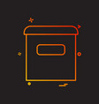 email box icon design vector image