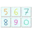 Five to zero figures set 6 vector image vector image