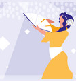 flamenco dancer woman isolated icon vector image