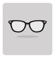 flat icon black glasses vector image