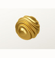 golden metal organic shape 3d sphere isolated on vector image vector image