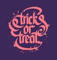 halloween typographical concept vector image