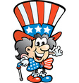Hand-drawn of an Old Happy Uncle Sam vector image vector image