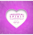 Happy spirit day heart vector image