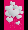 Heart Balloons Background vector image vector image
