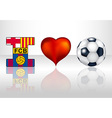 I love fc barcelona vector image vector image