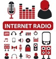 internet radio signs vector image