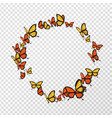isolated monarch butterfly copyspace circle shape vector image