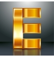 Letter metal gold ribbon - E vector image