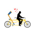 lover hockey hockey-stick on bicycle lovers of vector image vector image