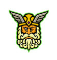 odin norse god mascot vector image