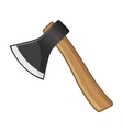 Old Steel Axe on White Background vector image