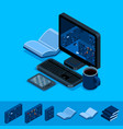 online library isometric concept library vector image vector image
