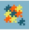 parts multicolor puzzles vector image