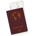 passport and ticket or boarding pass vector image vector image