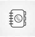 phone book icon sign symbol vector image