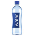 plastic bottle of clean water vector image vector image