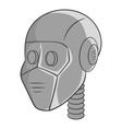 Robot head icon black monochrome style vector image vector image