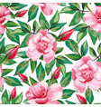 rose pattern seamless white background vector image vector image