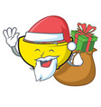 santa with gift soup union mascot cartoon vector image