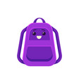 schoolbag backpack with school supplies vector image vector image
